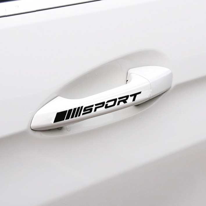 4pcs/lot SPORT car <font><b>door</b></font> <font><b>handle</b></font> Sticker for <font><b>Mercedes</b></font> Benz <font><b>AMG</b></font> w117 cla45 w205 c63 w212 e63 w207 w176 <font><b>a45</b></font> x156 gla45 image