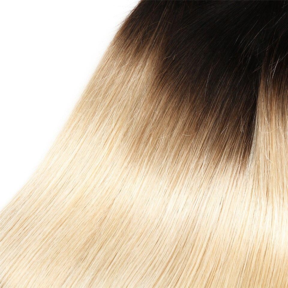Sleek Hair Blonde Brazilian Straight Hair 3 Bundles Deal T1B 613 Remy Human Hair Hair Extensions 10 To 30 Inches Free Shipping (2)