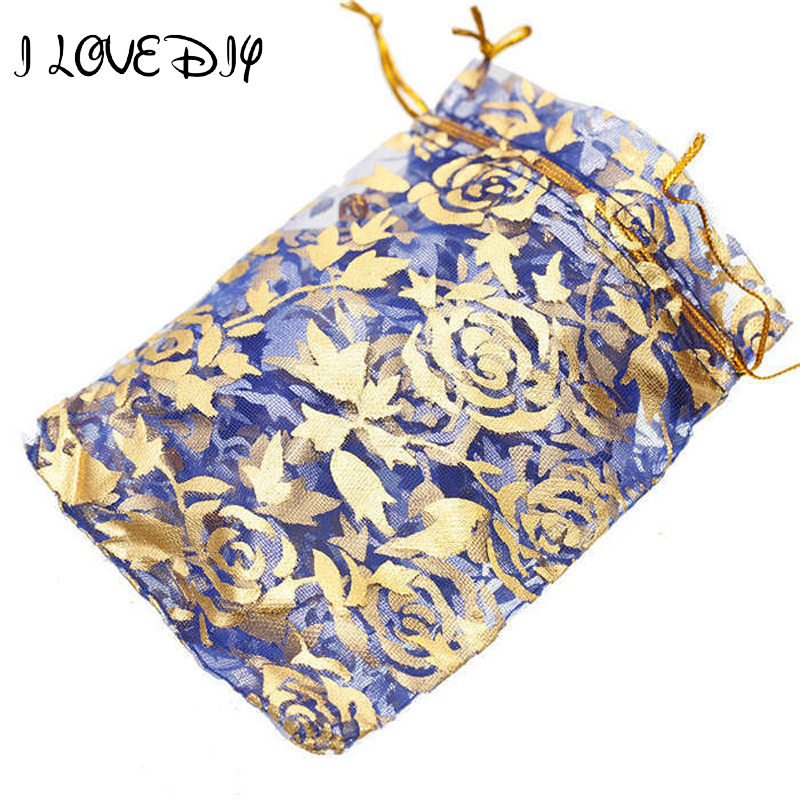 10pcs/lot Beauty Fabric Gauze Organza Bag Jewelry Packing Pouches Pouch Wedding Favor Gift Bags Free Shipping