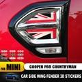 Union Jack Auto Seite Platte Kotflügel Aufkleber Abschnitt Dekoration für Mini Cooper F60 F 60 Countryman eine Aufkleber Abdeckung Zubehör