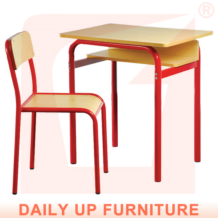 Wooden College Table and Chair Student Modern Classroom Furniture ...