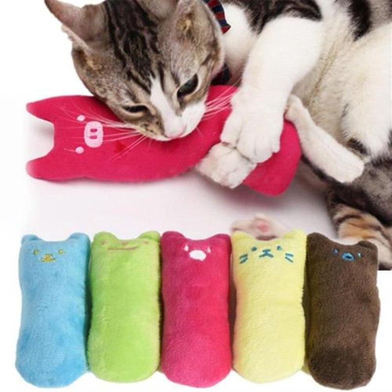 1 Stks Cartoon Kattenkruid Kussen Interactieve Speelgoed Kattenkruid Kat Levert Kussen Duim Speelgoed Kat Knuffel Tandenknarsen Bite Kat Mint Grote Uitverkoop