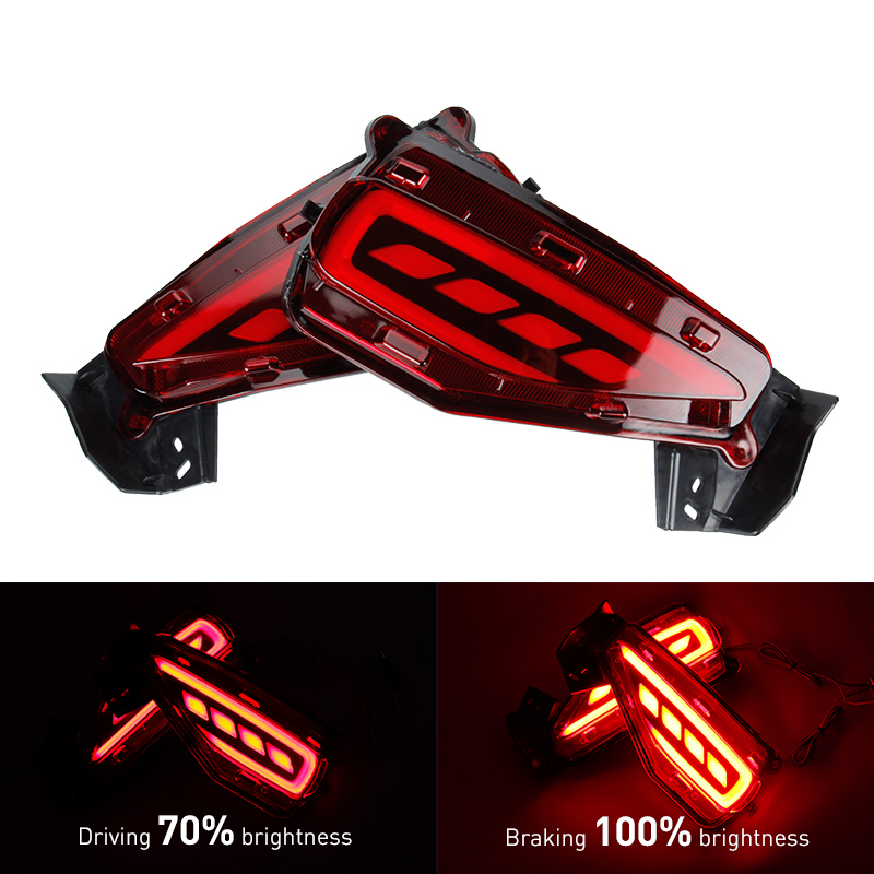 KEEN For  Toyota Fortuner Car LED Rear Bumper Reflector Light LED Parking Warning Stop Brake Lamp Tail Lanter universal fog lamp led rear bumper warning lights car brake lamp cob running light led turn light for honda civic 2016 one pair