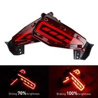KEEN For Toyota Fortuner Car LED Rear Bumper Reflector Light LED Parking Warning Stop Brake Lamp