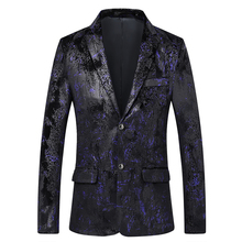 fashion printed mens designer blazer long sleeve 2019 new single breasted coat men