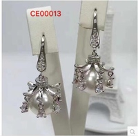 CC CE00013 Flash 2CC With Pearl Earrings Silver Earrings With Box