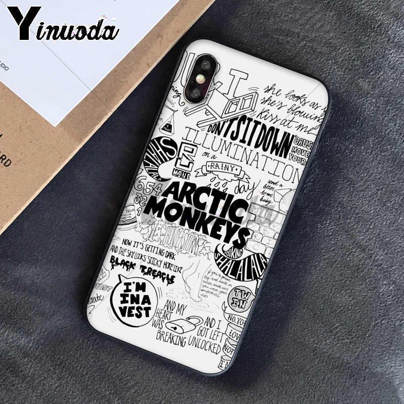 Yinuoda Альтернативная рок-группа Arctic Monkeys, Новое поступление, чехол для сотового телефона iPhone 5 5Sx 6 7 plus 8 8 Plus X XS MAX XR