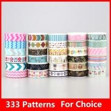 150pcs/Lot NEW Tape Flower Print Deco DIY Sticker /Adhesive Masking Japanese Washi Tape Paper Wholesale 333 Patterns choice