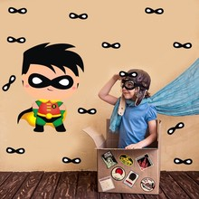 Superhero Batman Decals Cartoon Door Windows Wall Stickers For Kids Bedroom Home Decoration DIY Removable Vinyl Art Mural Decor
