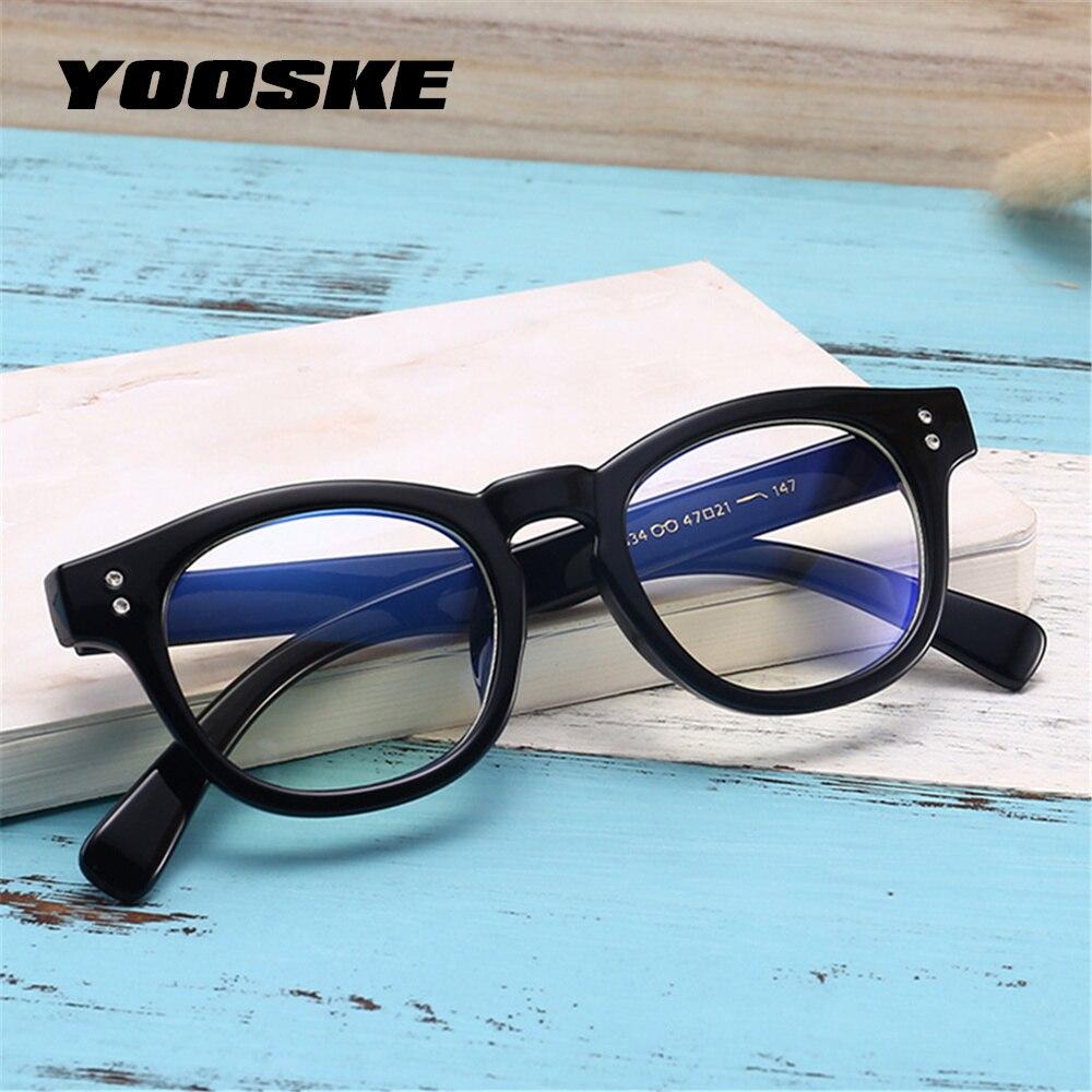 YOOSKE Anti Blue Rays Glasses Women Computer Goggles Reading Glasses Frame Men Blue Light Radiation Resistant Gaming Glasses