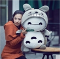 Dorimytrader 31'' / 80cm Baymax Toy Stuffed Soft Plush Giant  Anime Totoro Doll 2 Models Nice Baby Gift Free Shipping DY60902