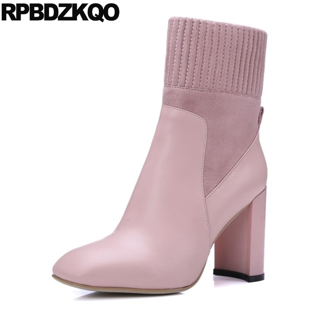 Chaussures automne à bout carré roses femme QsRc3qPD5