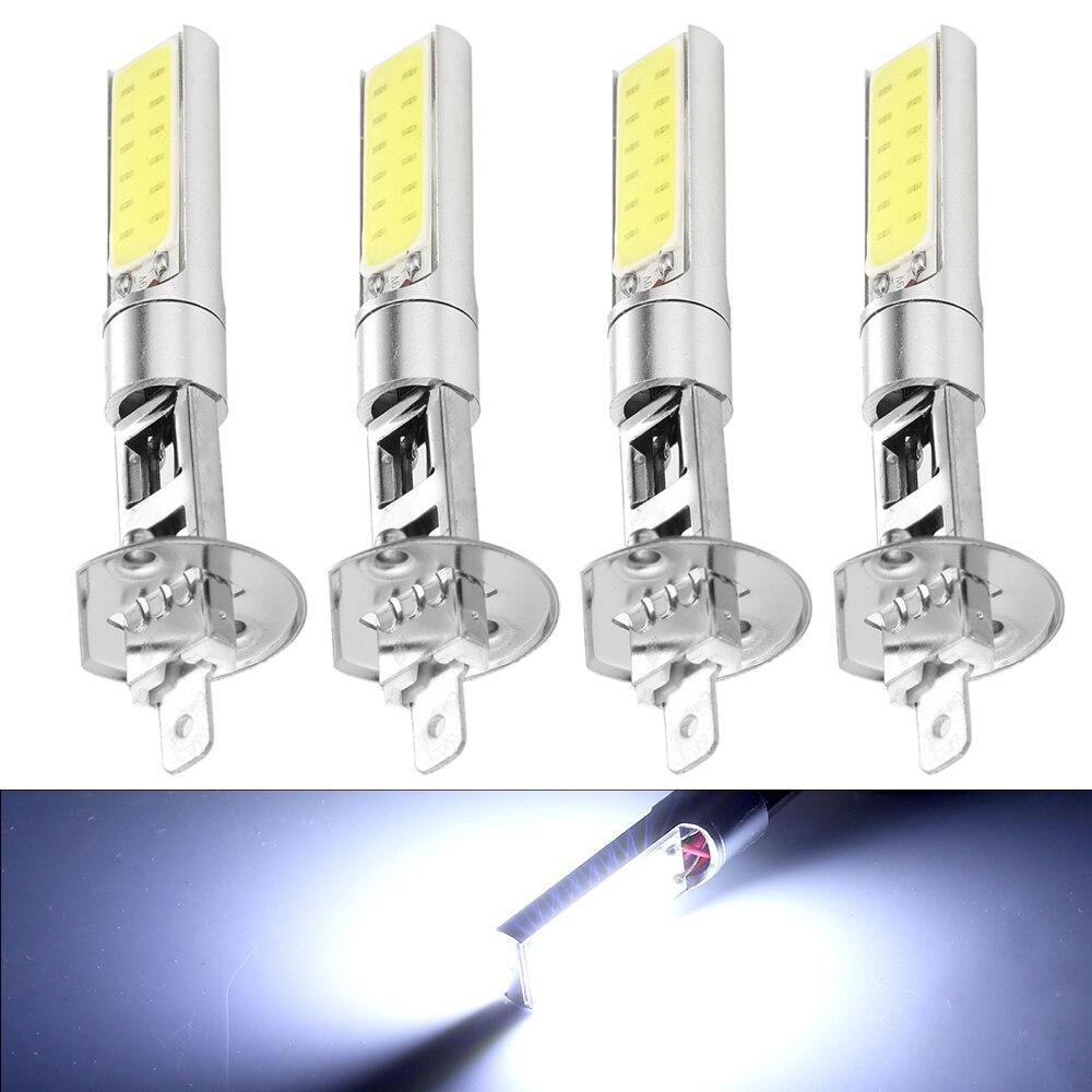 4pcs H1 LED Fog Lights Headlight White 6000K COB LED Headlight Hi/Lo Beam Bulbs Driving Lamps Universal High Quality