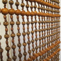 1*1.5 m space 4cm free shipping Wood bead curtain Maroon spirally wound coffee partition