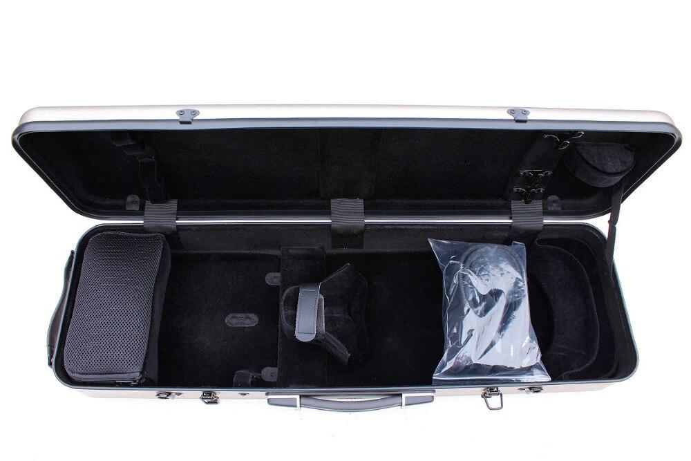 Один чехол из углеродного волокна для скрипки 4/4 Размер Чехол из углеродного волокна крепкий светильник прочный черный цвет белый цвет