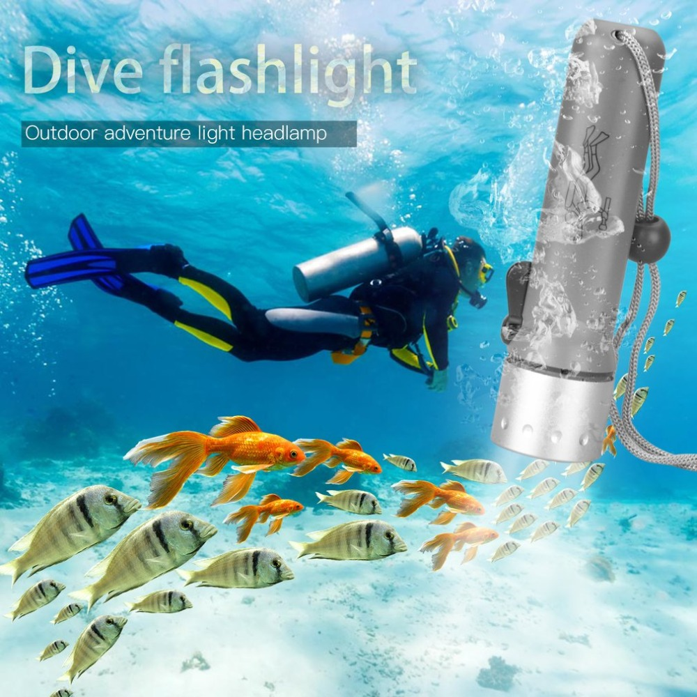 Professional LED Dive Torch Lantern Lighting Underwater Diving Flashlight Torch Waterproof Diver Lamp Use AAA/18650 battery ru zk30 cree xm l2 diving led flashlight 5000lm zoomable torch lantern dive waterproof underwater 120m military grade flashlight