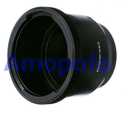 Amopofo P60-M4 / 3 어댑터 Pentacon 6 Kiev 60 렌즈 - 마이크로 4/3 M43 어댑터 E-PL7 OM-D GH4 G7 MFT