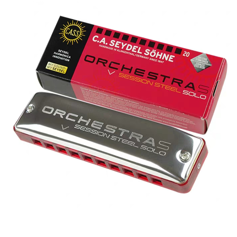 Seydel Orchestra S Blues Diatonic Harmonica 10 Holes Seydel Session Steel Solo Harp Key C Stainless