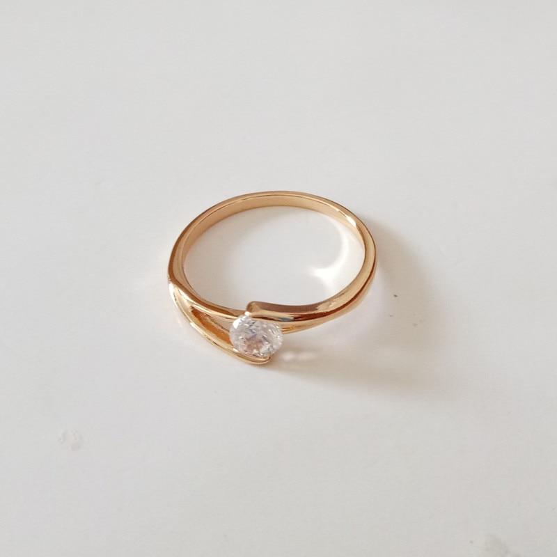 1 Piece New Women Female Trendy Fashion Jewelry White Zircon Rose ...