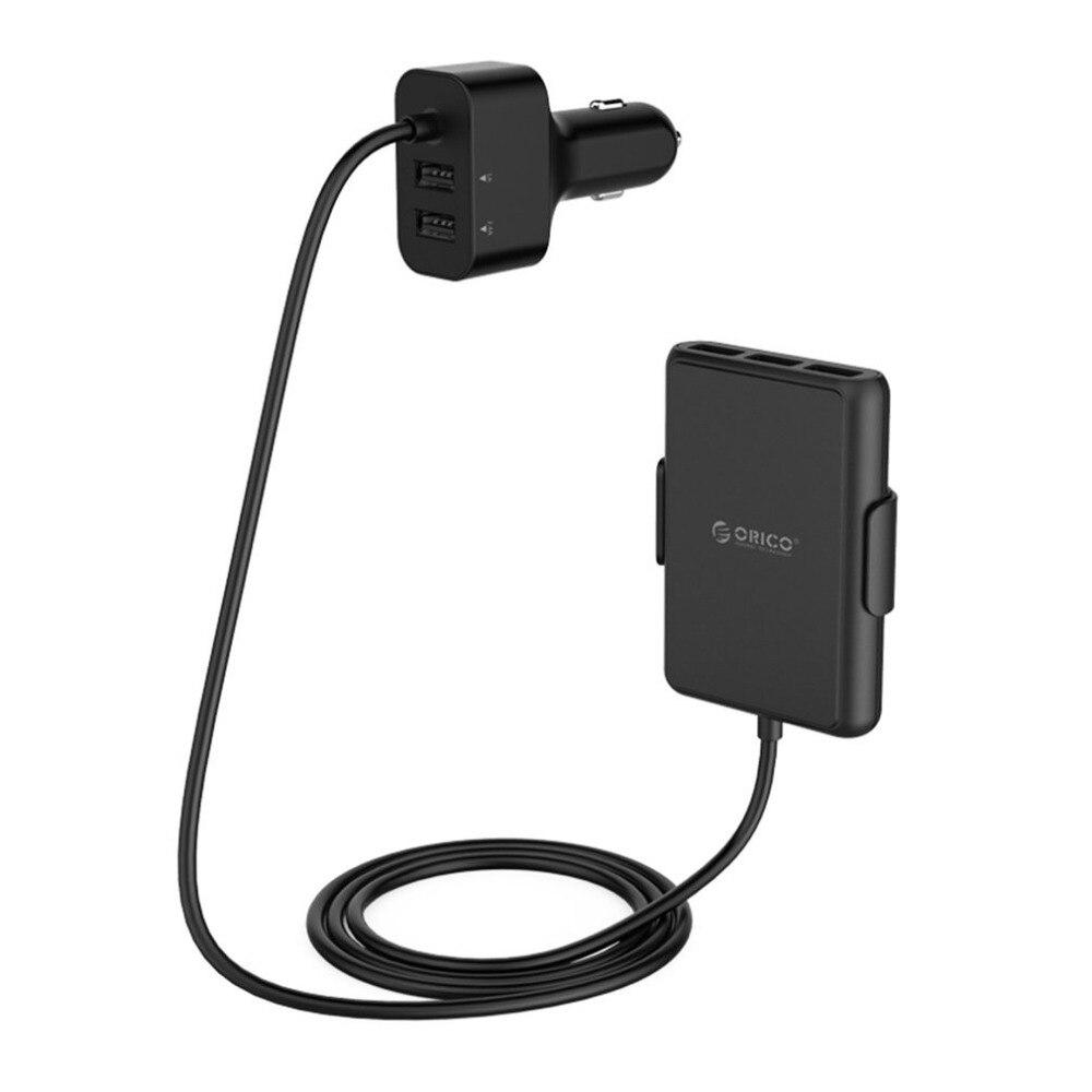 ORICO 5 Ports QC3.0 USB chargeur de voiture universel USB adaptateur rapide 52 W pour MPV voiture téléphones mobiles tablette PC 12 V/24 V disponible noir
