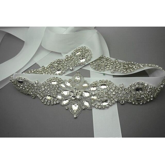 Bridal Belt Glass Crystal Rhinestone Bling Wedding 2017 New Style Prom Party Dress Bridal Sash