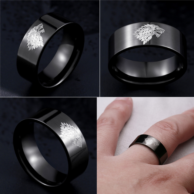 Game of Thrones Stark Wolf Ring