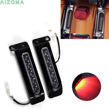 2pcs Auxiliary LED Rear Brake Taillight Motorcycles Bright Blinkers Turn Signal Indicators For Harley 2014-2019