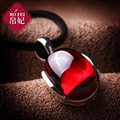 2017 new Natural semi-precious stones Silk Princess high-end 925 Sterling Silver Necklace Pendant female garnet red rhyme