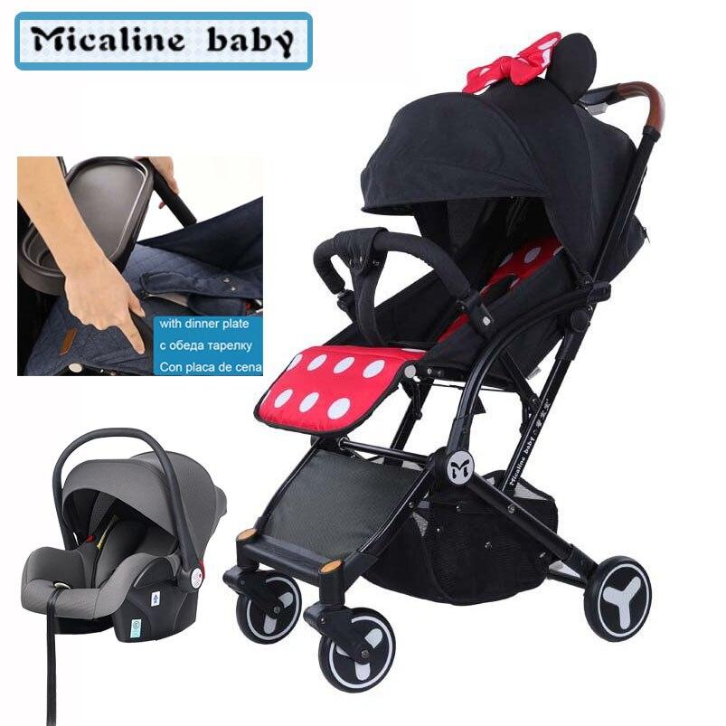 Bébé yoya poussette mini léger portable pliant bébé chariot peut s'asseoir peut mentir bébé chariot 3 en 1 à manger chaise