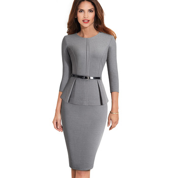 Monroe Elegant Business-Wear Retro Vintage Style Dress