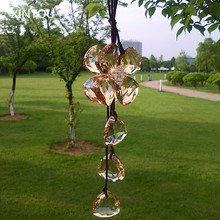 XINTOU Crystal Four Leaf Flower Hanging Ornaments Feng Shui Decorating Home Curtain Car Rearview Mirror suncatchers