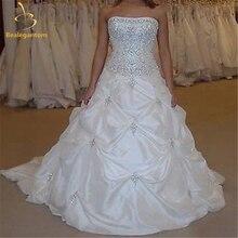 Bealegantom высокое качество дешевые пикантные Свадебные платья аппликации тафта Свадебное платье с бисером Robe De Mariage 2-16 QA1003