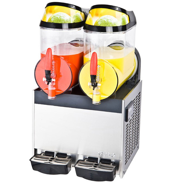 LXRJ-10L*2 Double Tank Stainless Steel Drink Iced granita crushed ice machine slush machine 1pc