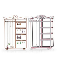 Wrought Iron Frame Earrings Necklace Holder Stand Earring Accessories Storage Rack Jewelry Dispaly Rack Top Quality