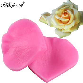 Mujiang Rose Flower Petals Silicone Cake Mold Flower Making Fondant Cake Decorating Tool For Cake Cookie Chocolate Candy Mould rose