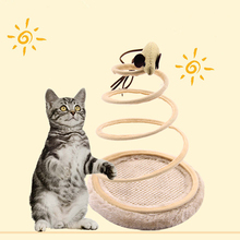 Cat Toy Mobile Interactive Plush Spring Plate Pet Mouse Play Chew Toys Pets Cats Goods Mice Supplies Top Products
