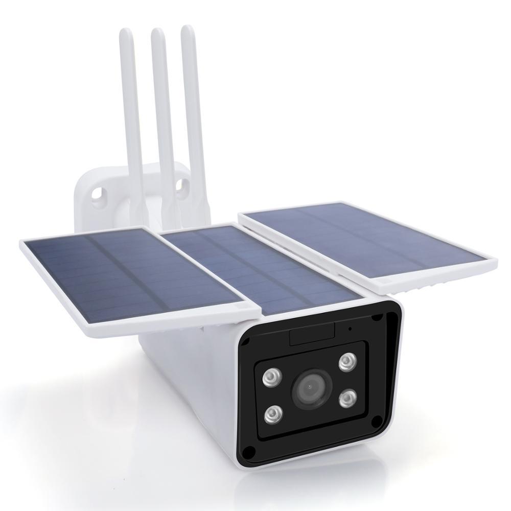 2MP 4g Solar Power IP Bullet Cameras 1080P HD 4g Sim Card Long IR Vision Outdoor Surveillance Cameras P2P Wire Free CCTV Camera
