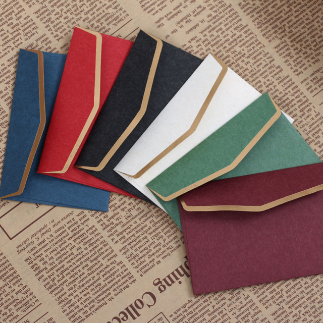 free shipping paper envelope invitation card envelops sliod color