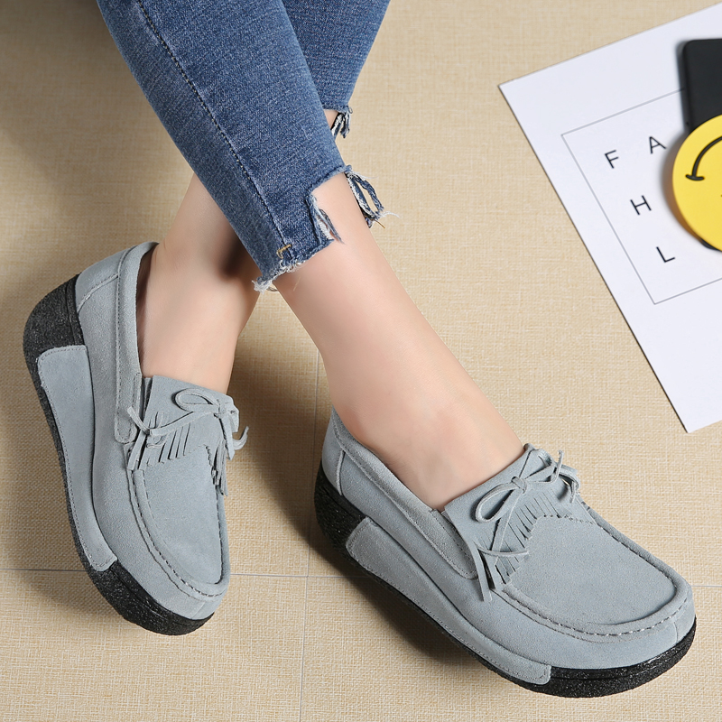 Fashion Women Flats Slip On Platform Creepers Round Toe Moccasins Leisure Slipony Wedges Casual Shoes Chaussure Femme phyanic 2017 gladiator sandals gold silver shoes woman summer platform wedges glitters creepers casual women shoes phy3323