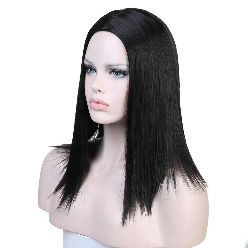 DIFEI Short Straight Hair Lady Cospaly Wig High Temperature Synthesis Feminine Fiber Halloween Party Wig
