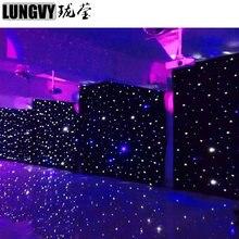 Trasporto Libero 4 m * 6 m Blu/Bianco HA PORTATO Tenda Stelle LED Cielo Stellato Teatro Tenda Sullo Sfondo di Nozze decorazione Per Eventi