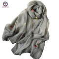 2016 New Fashion women silk Scarf flowers embroid retangle shawl Brand scarf shawls Female Scarfs women scarves ladies wraps