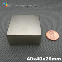 N52 NdFeB Block 40x40x20 mm water meter filter Strong magnet Neodymium Permanent Magnets Rare Earth Magnets 50x50x25mm available