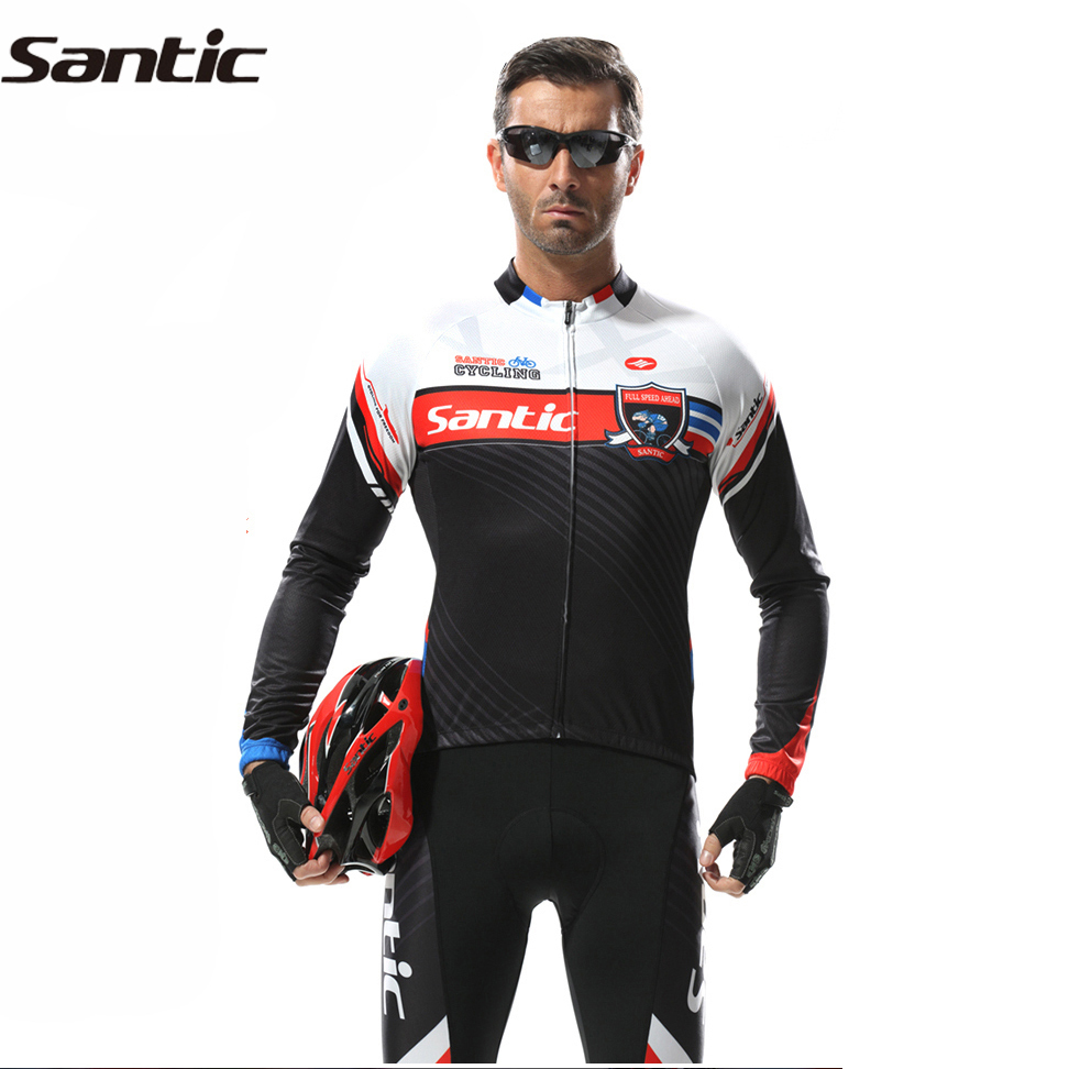 ФОТО SANTIC MTB Cycling Jersey Breathable Bicycle Clothing Quick-Dry GEL Pad For Spring/Summer Mountain Bike Outdoor Riding Equipment