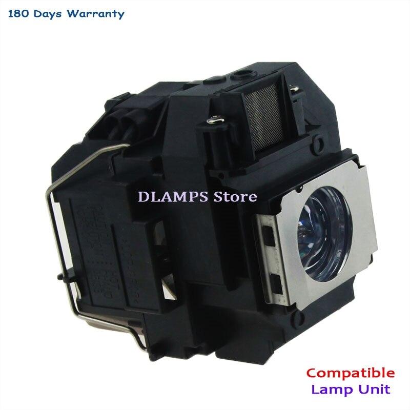 Byte lampa med hölje ELP58 V13H010L58 passform För EPSON EB-S10 / EB-S9 / EB-S92 / EB-W10 / EB-W9 / EB-X10 / EB-X9