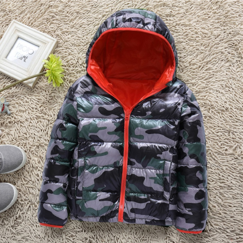 JKP 2018 boy down Cotton jacket children's camouflage hooded down jacket casual Outerwear & Coats fashion Parkas plus size female basic coat 2017winter jacket parkas hooded thicken down cotton coats