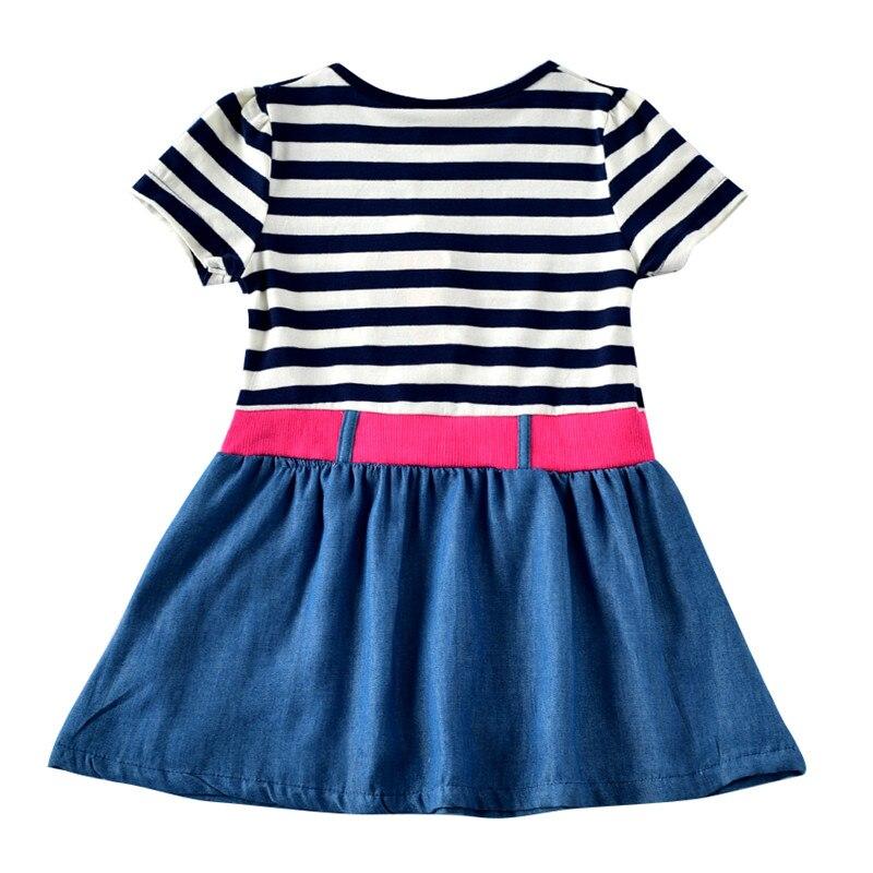 novatx 2-6T Bawełna w paski krótkie sukienki dla dzieci kreskówka - Ubrania dziecięce - Zdjęcie 2
