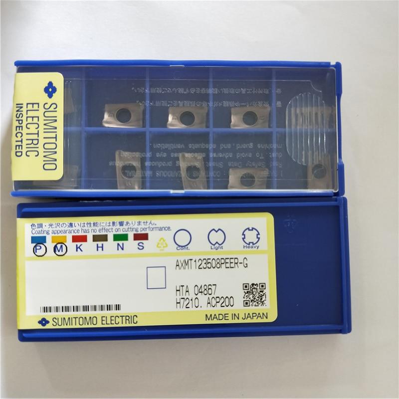 AXMT123508PEER G ACP200 Original SUMITOMO carbide insert 10pcs lot free shipping