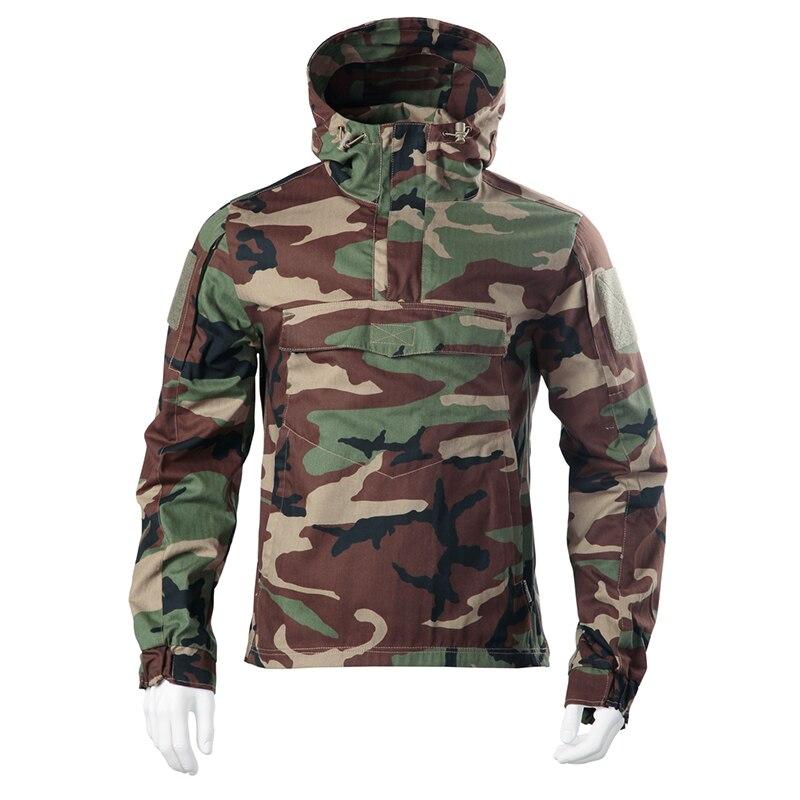 Armée Camouflage veste militaire tactique veste Combat Airsoft chasse hommes coupe-vent thermique à capuche veste manteau