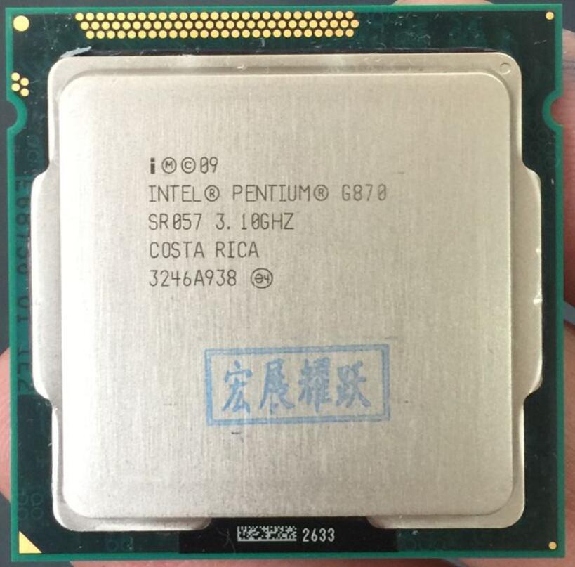 Intel Pentium Processor G870  3.1G CPU Dual-Core LGA 1155 100% Working Properly Desktop Processor